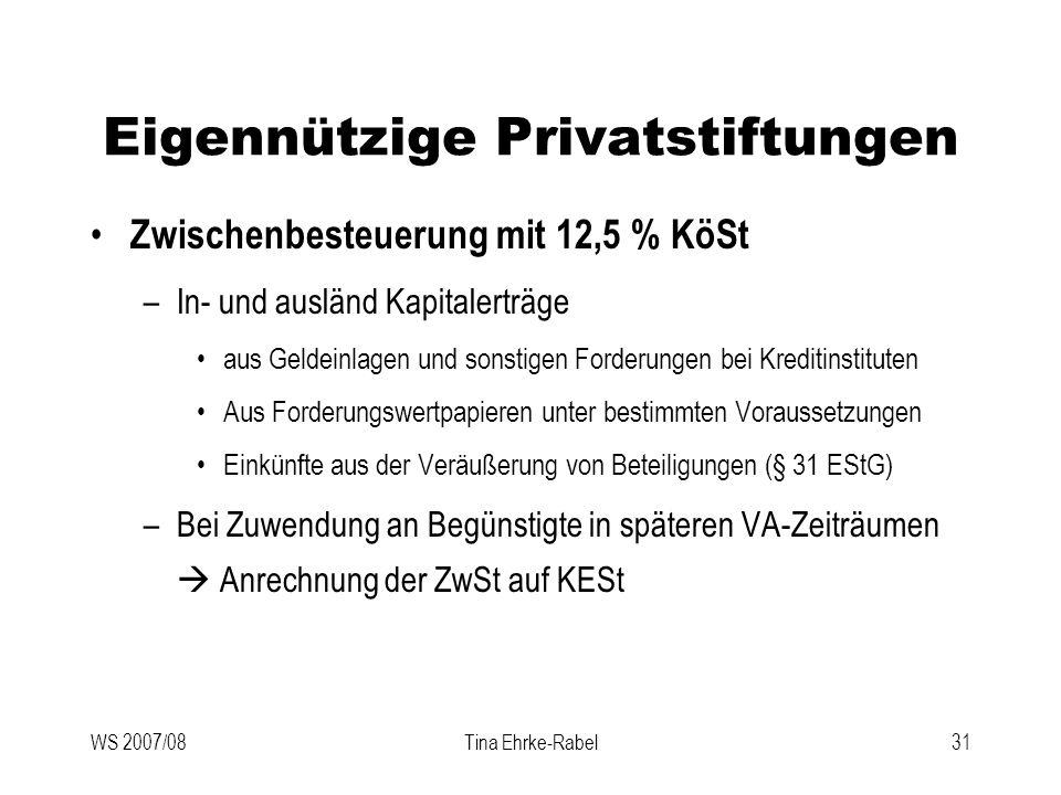Eigennützige Privatstiftungen