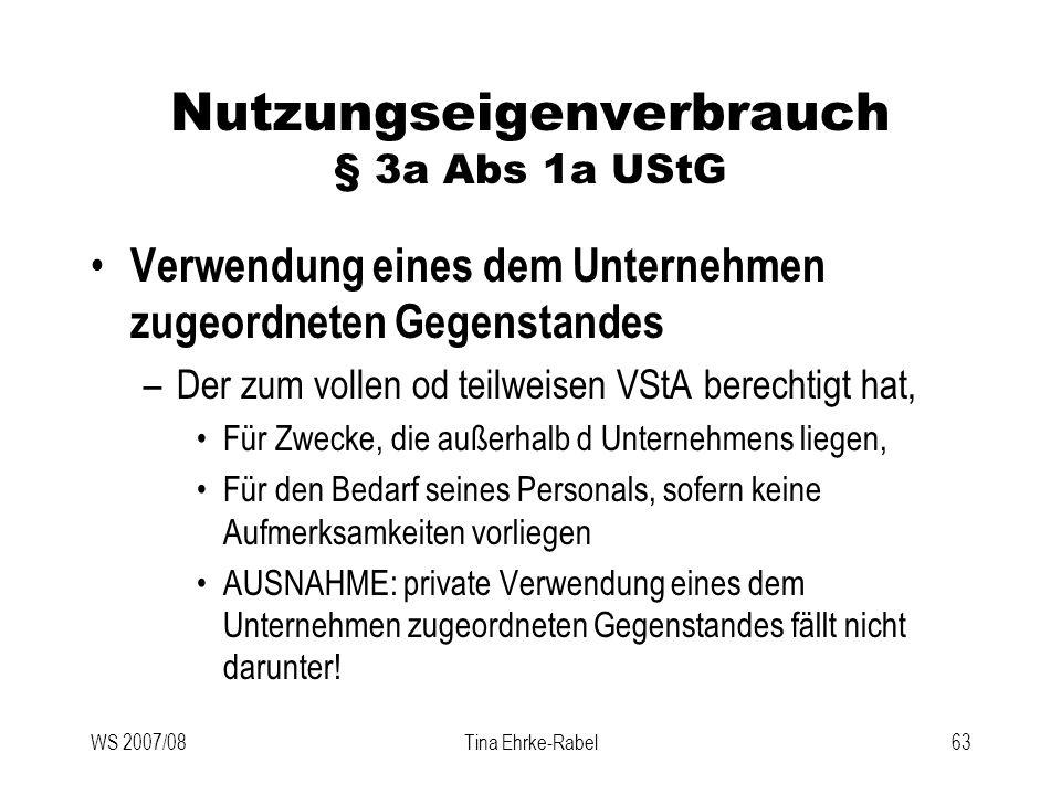 Nutzungseigenverbrauch § 3a Abs 1a UStG
