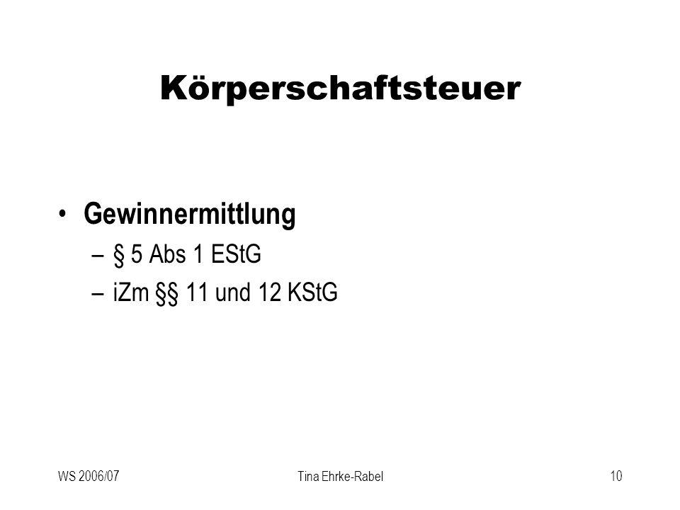 Körperschaftsteuer Gewinnermittlung § 5 Abs 1 EStG