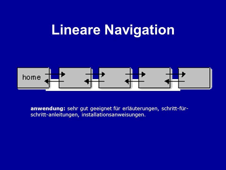 Lineare Navigation