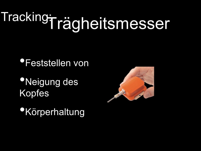 Trägheitsmesser Tracking: Feststellen von Neigung des Kopfes