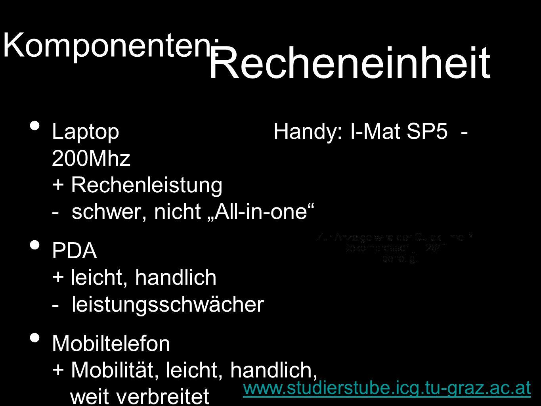Recheneinheit Komponenten: