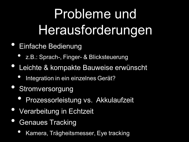 Probleme und Herausforderungen