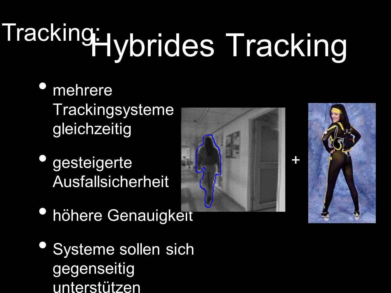 Hybrides Tracking Tracking: mehrere Trackingsysteme gleichzeitig