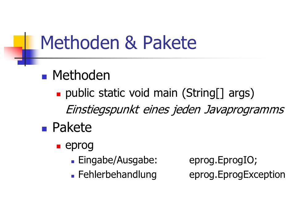 Methoden & Pakete Methoden Pakete