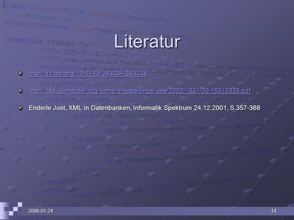 Literatur http://dx.doi.org/10.1145/383034.383038