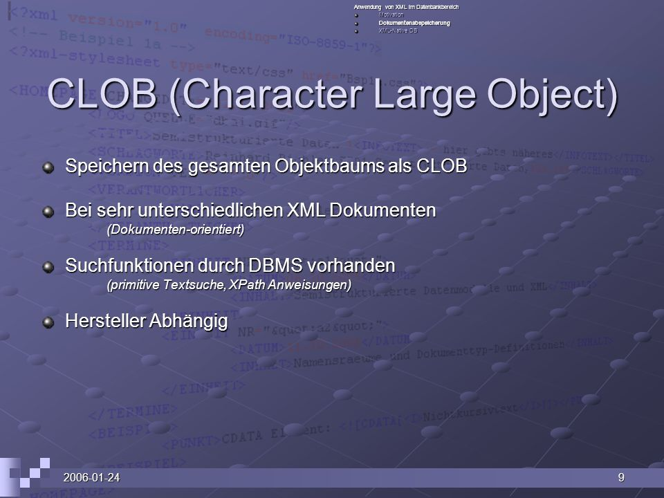 CLOB (Character Large Object)