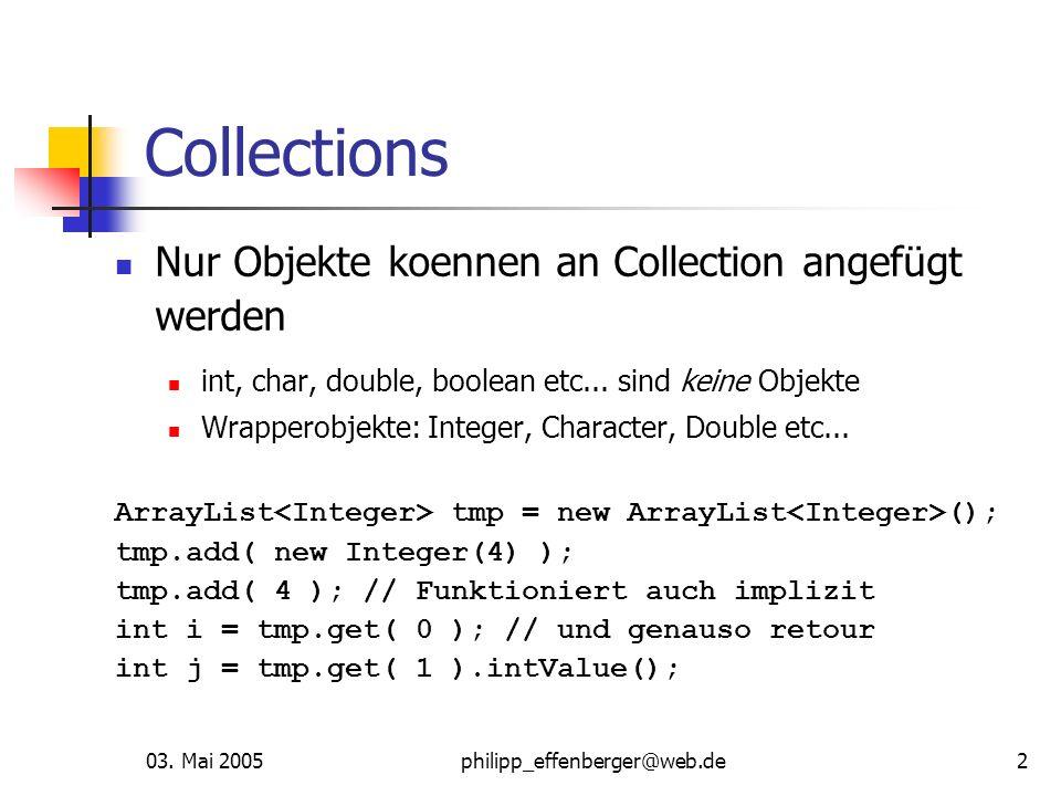 Collections Nur Objekte koennen an Collection angefügt werden