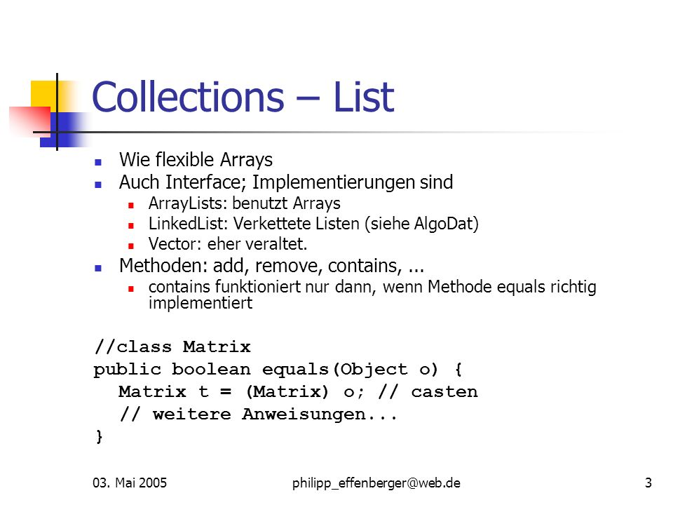 Collections – List Wie flexible Arrays