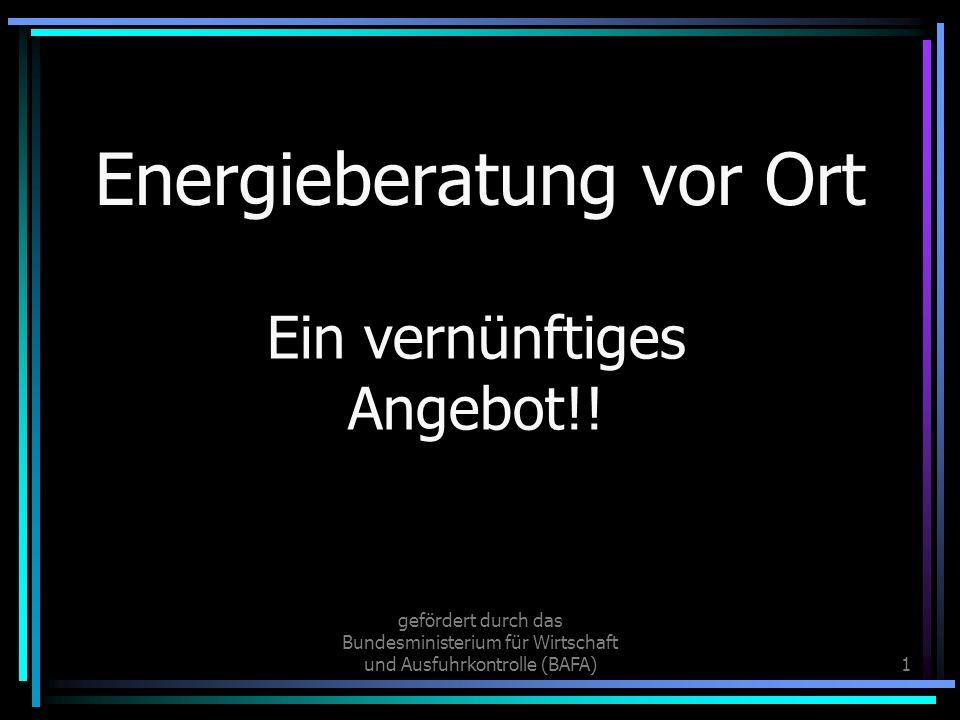 Energieberatung vor Ort
