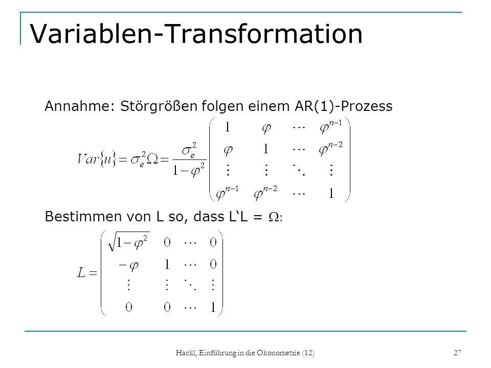 Variablen-Transformation