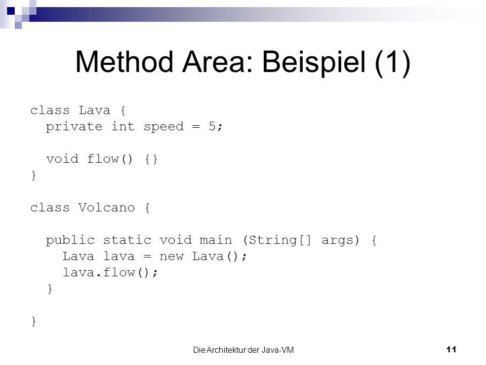 Method Area: Beispiel (1)