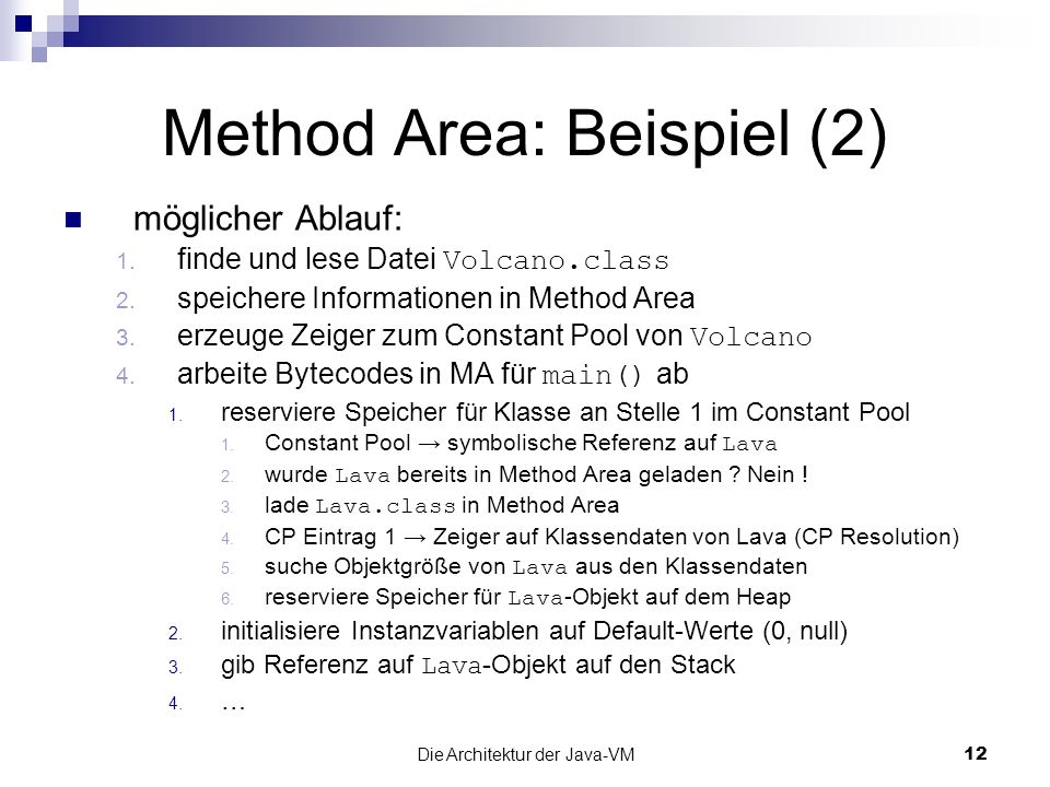 Method Area: Beispiel (2)