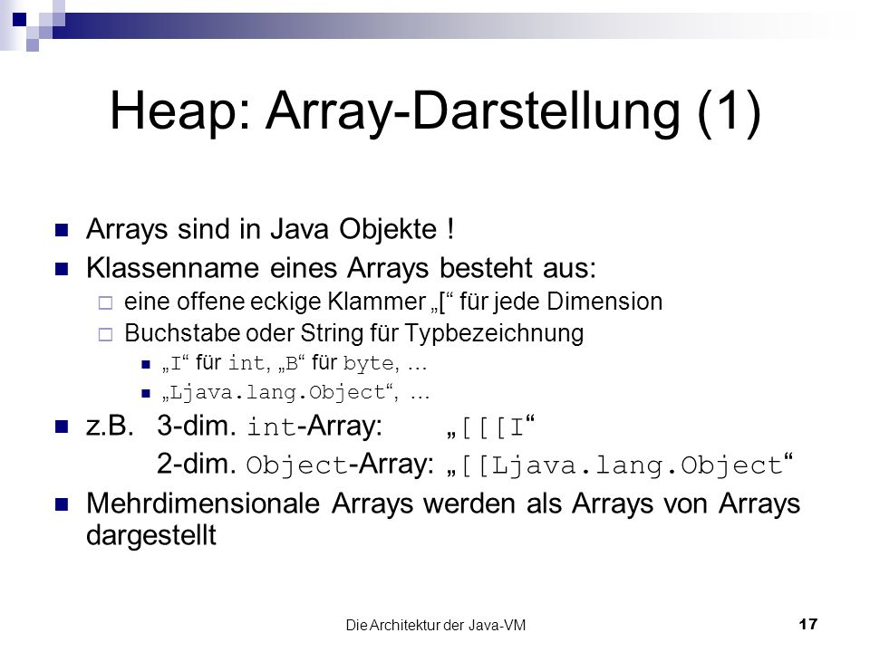 Heap: Array-Darstellung (1)