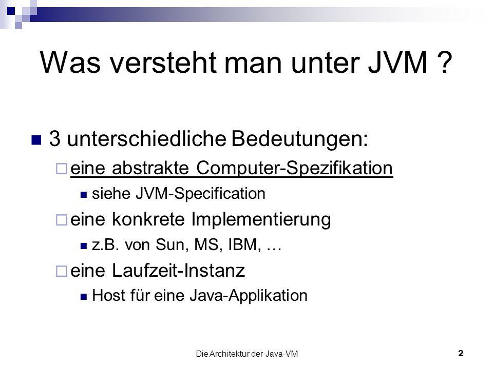 Was versteht man unter JVM