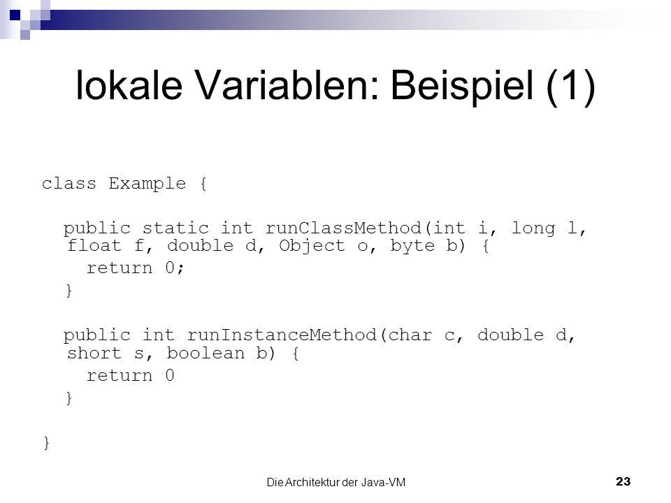 lokale Variablen: Beispiel (1)