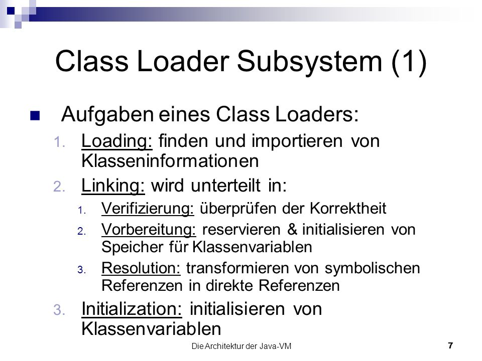 Class Loader Subsystem (1)
