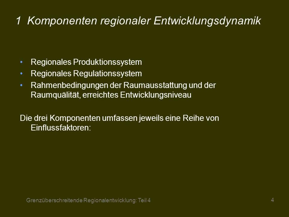 1 Komponenten regionaler Entwicklungsdynamik