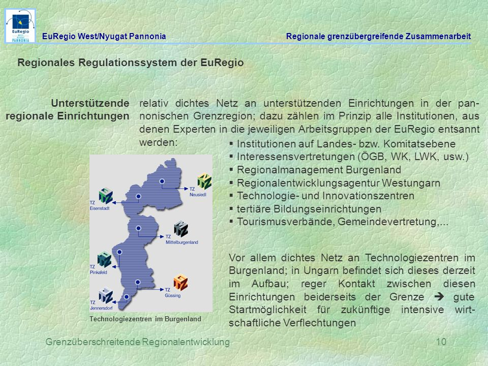 Regionales Regulationssystem der EuRegio