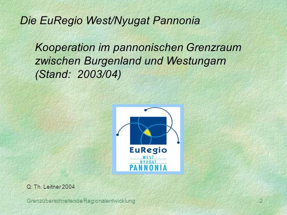 Die EuRegio West/Nyugat Pannonia