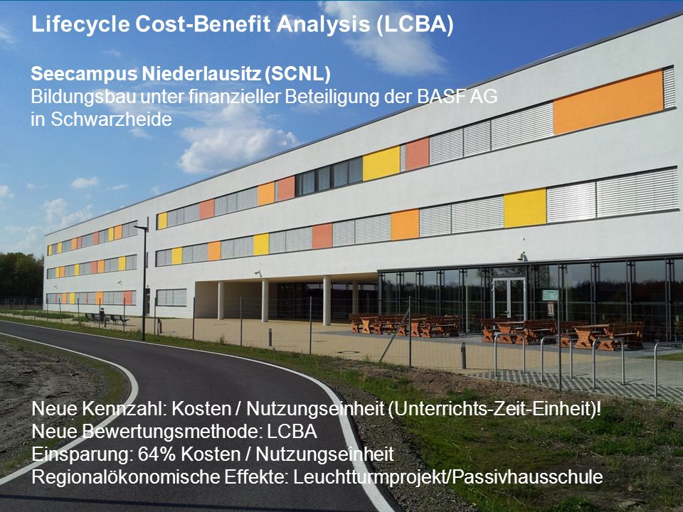 Lifecycle Cost-Benefit Analysis (LCBA)