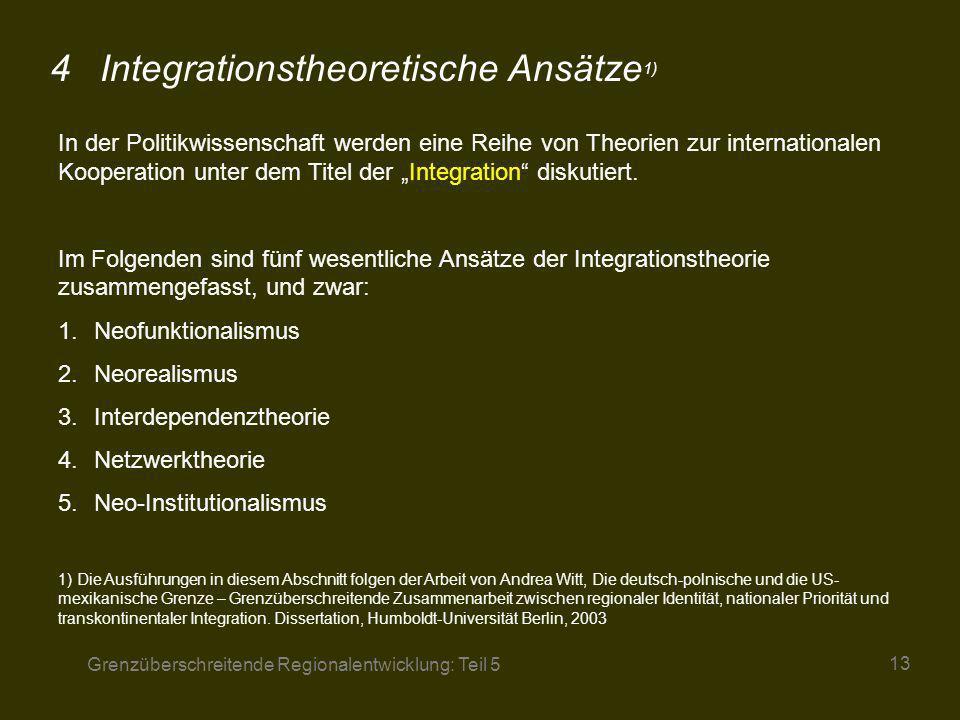 4 Integrationstheoretische Ansätze1)