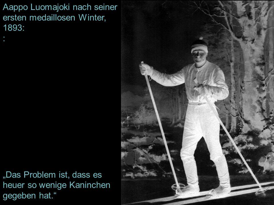 Aappo Luomajoki nach seiner ersten medaillosen Winter, 1893: