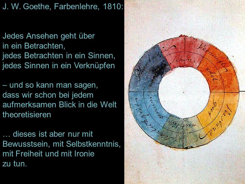 J. W. Goethe, Farbenlehre, 1810: