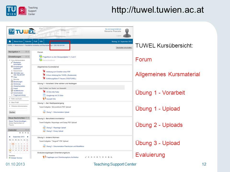 http://tuwel.tuwien.ac.at TUWEL Kursübersicht: Forum
