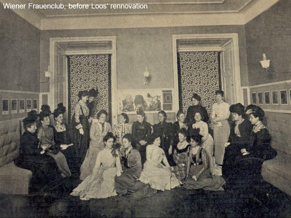 Wiener Frauenclub, before Loos' rennovation