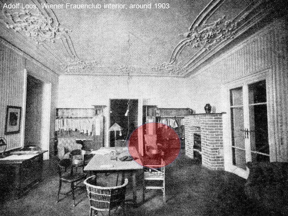 Adolf Loos, Wiener Frauenclub interior, around 1903