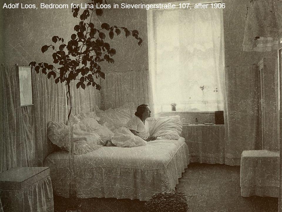 Adolf Loos, Bedroom for Lina Loos in Sieveringerstraße 107, after 1906
