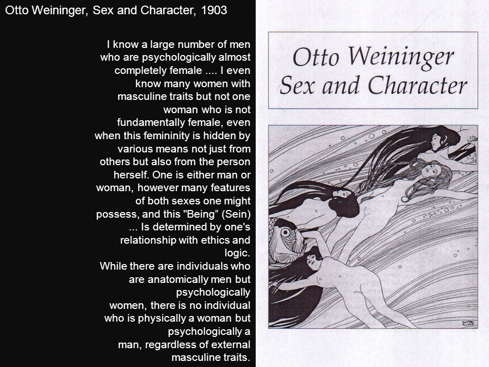 Otto Weininger, Sex and Character, 1903
