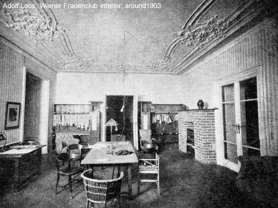 Adolf Loos, Wiener Frauenclub interior, around1903