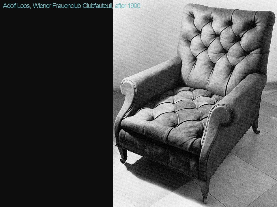 Adolf Loos, Wiener Frauenclub Clubfauteuil, after 1900