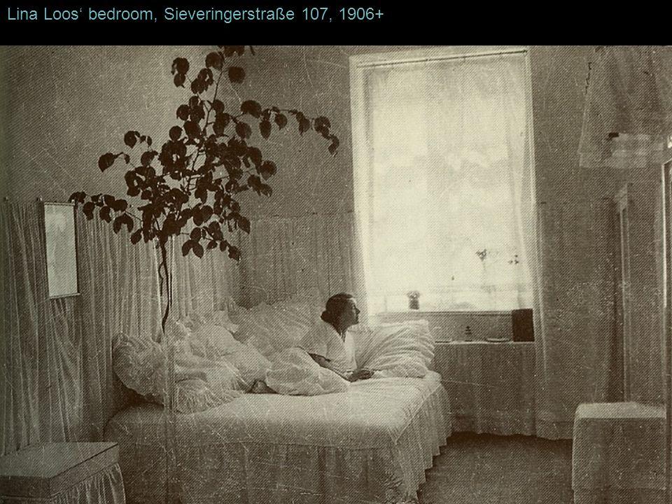 Lina Loos' bedroom, Sieveringerstraße 107, 1906+
