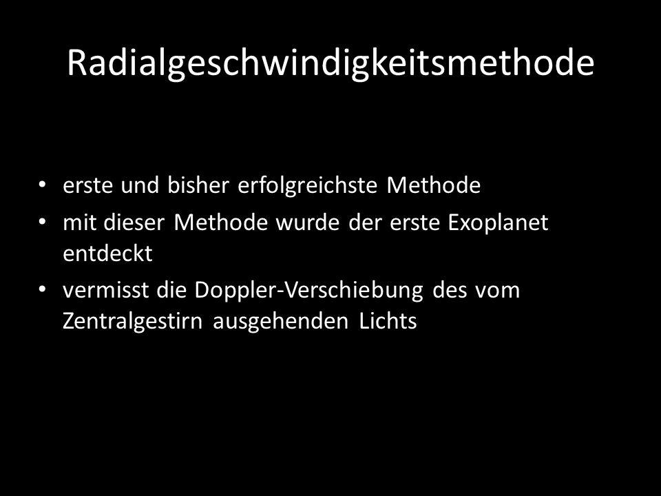 Radialgeschwindigkeitsmethode
