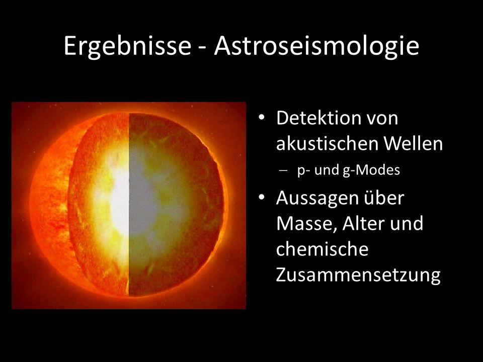Ergebnisse - Astroseismologie