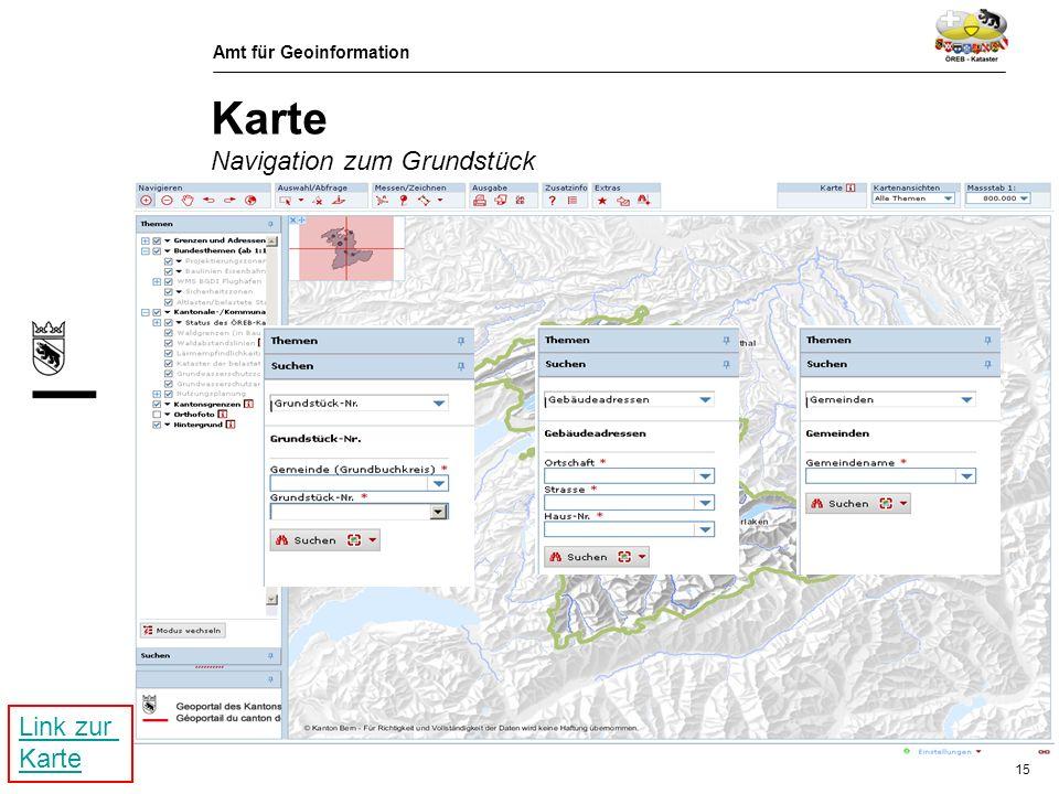 Karte Navigation zum Grundstück