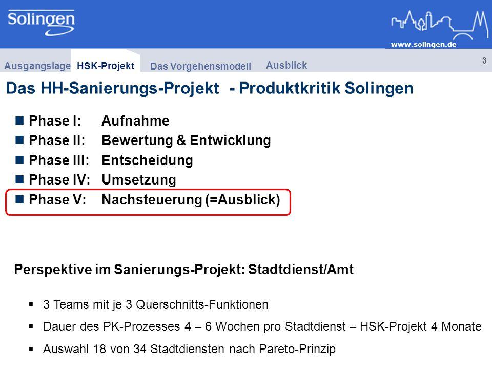 Das HH-Sanierungs-Projekt - Produktkritik Solingen