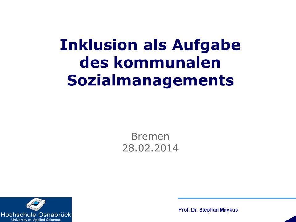 Inklusion als Aufgabe des kommunalen Sozialmanagements
