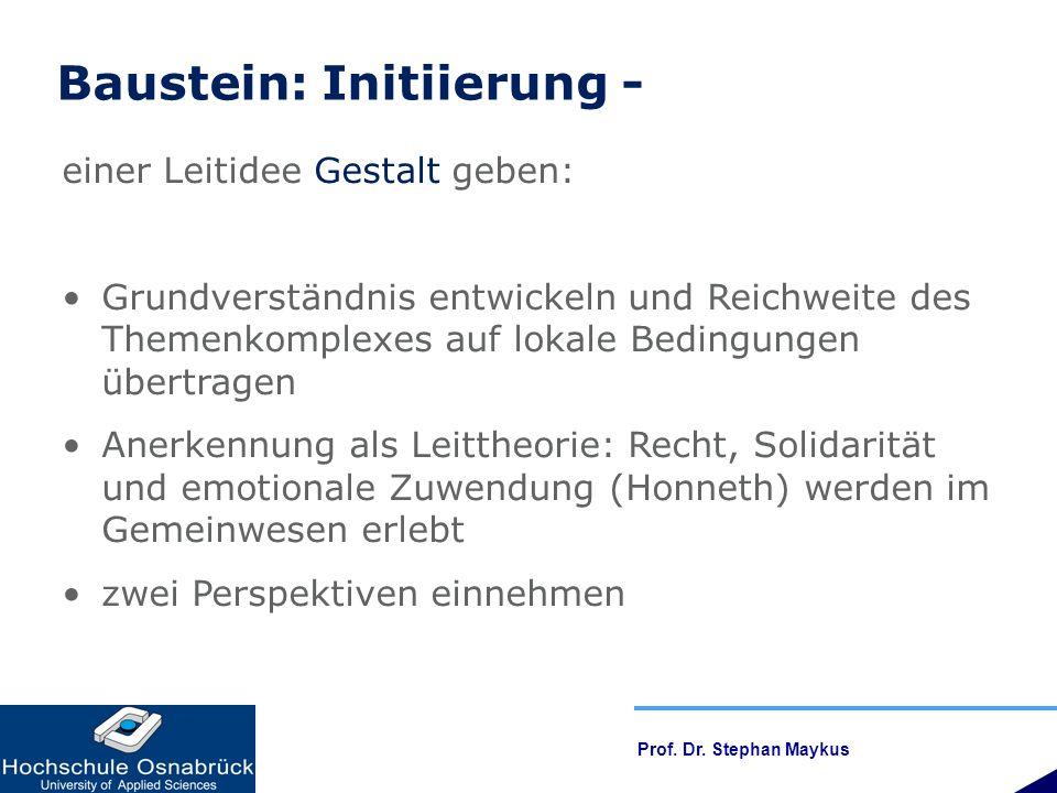 Baustein: Initiierung -