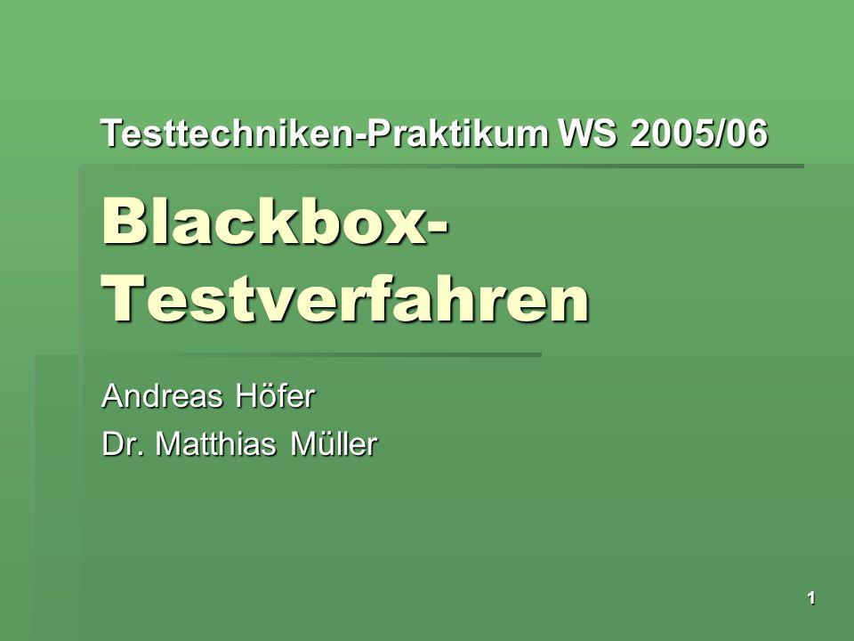 Blackbox-Testverfahren