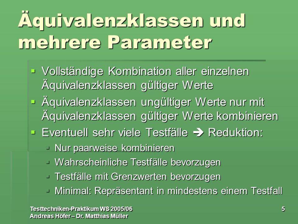 Äquivalenzklassen und mehrere Parameter