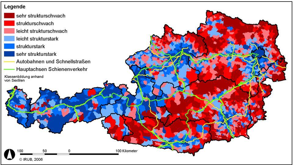 … in der Praxis (1) anhaltende Polarisierung in strukturschwache und -starke ländliche Räume