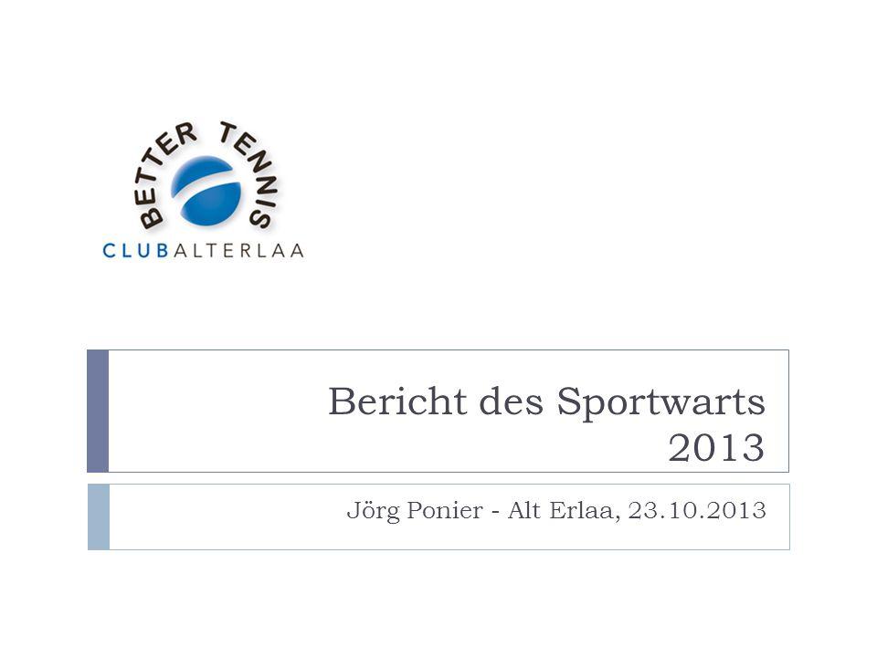 Bericht des Sportwarts 2013