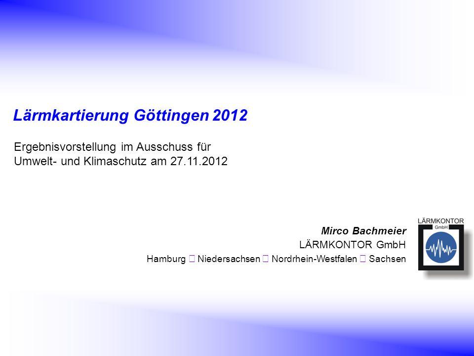 Lärmkartierung Göttingen 2012
