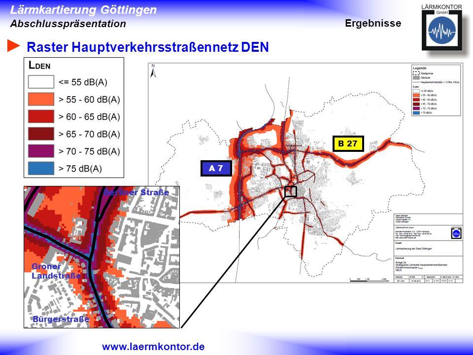 ► Raster Hauptverkehrsstraßennetz DEN