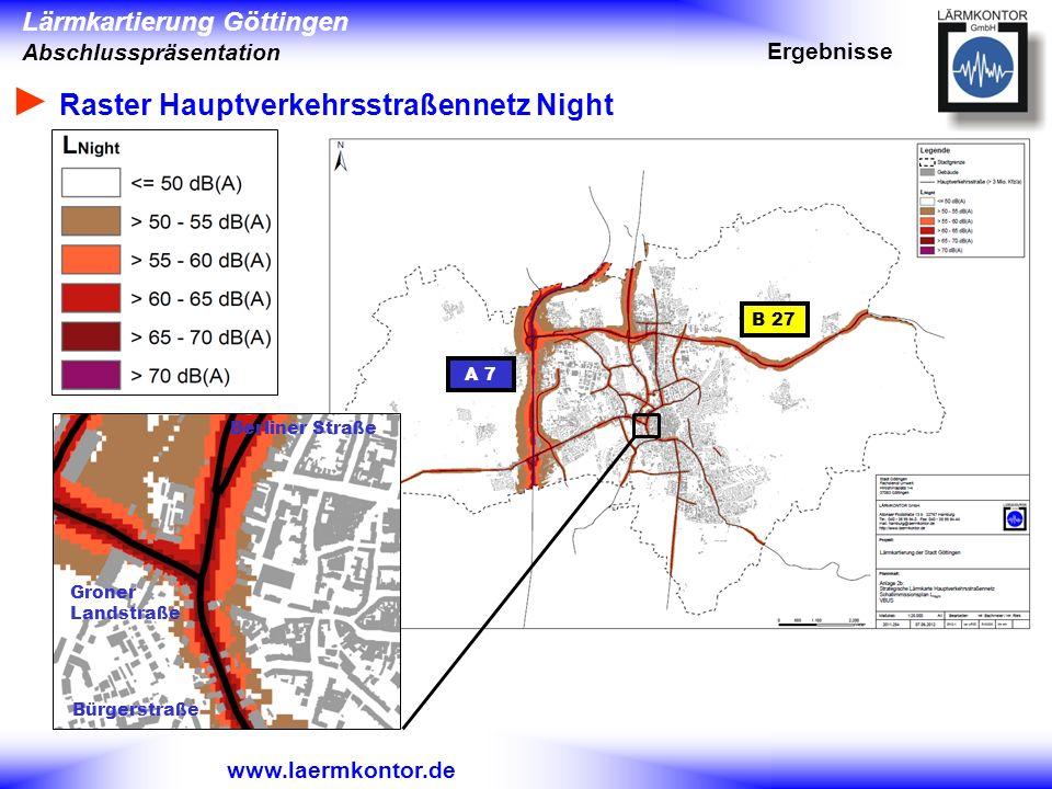 ► Raster Hauptverkehrsstraßennetz Night