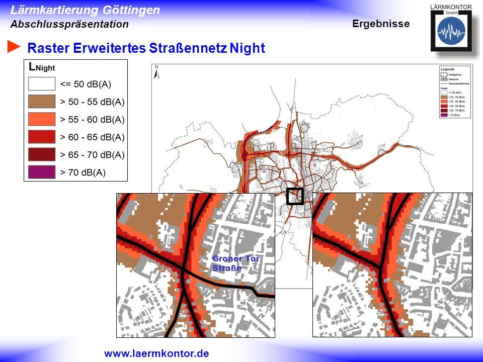 ► Raster Erweitertes Straßennetz Night